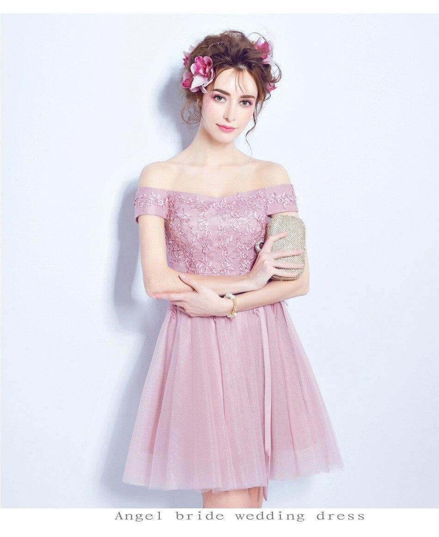 Ángel vestido de novia Rosa rosa sujetador de encaje corta top Gasa ...