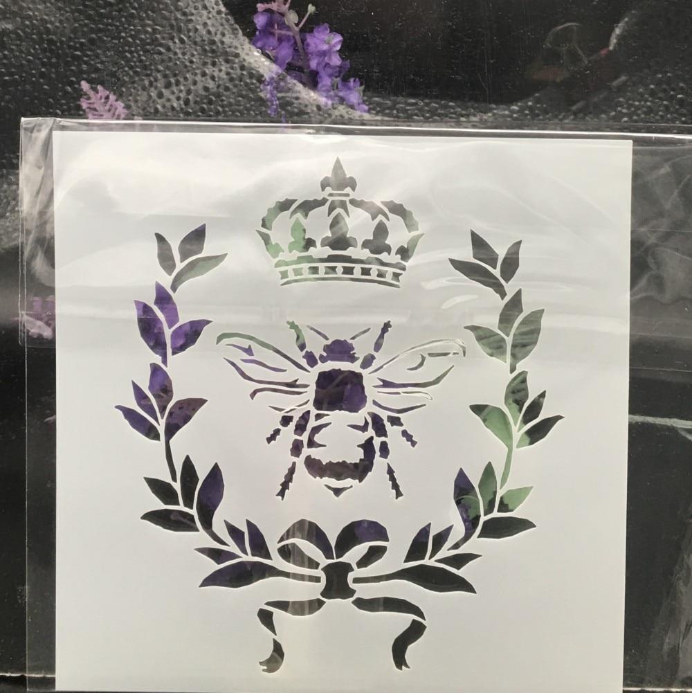 Opbergrek 70 Cm Breed.Kopen Goedkoop 13 Cm Bee Crown Diy Gelaagdheid Stencils Muur