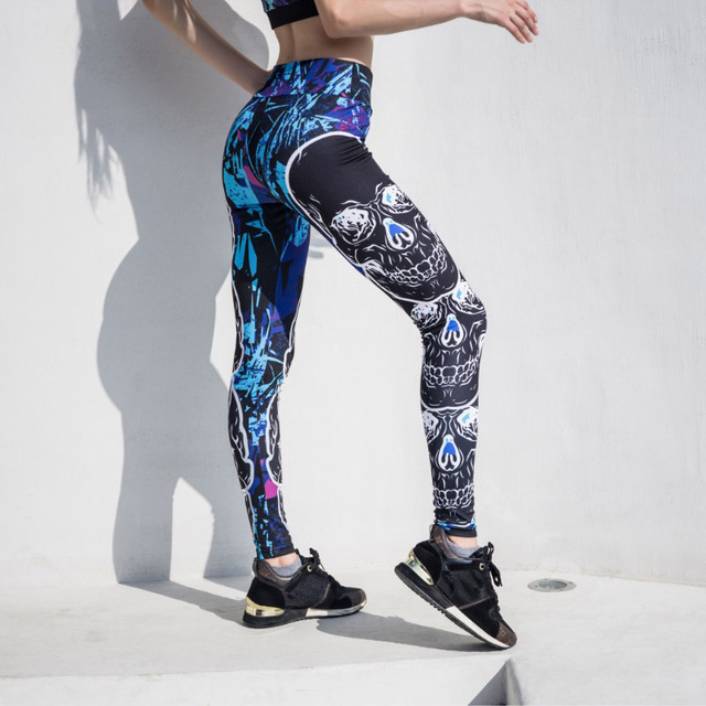 3D SKULL LEGGINGS (3 VARIAN)