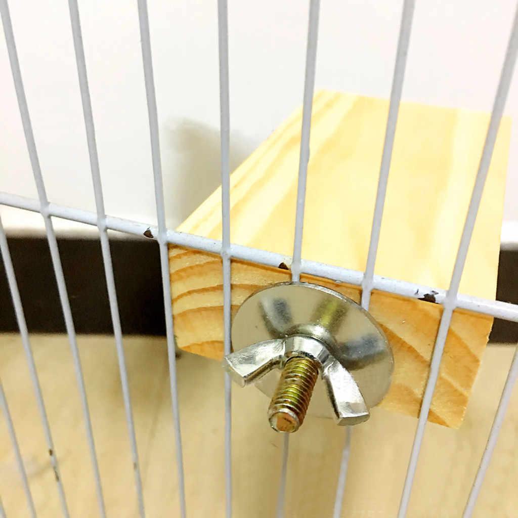 Трансер хаки Весенняя доска деревянная платформа стойка костюм для клетки птицы Pet Parrot Gerbils 19Jan11