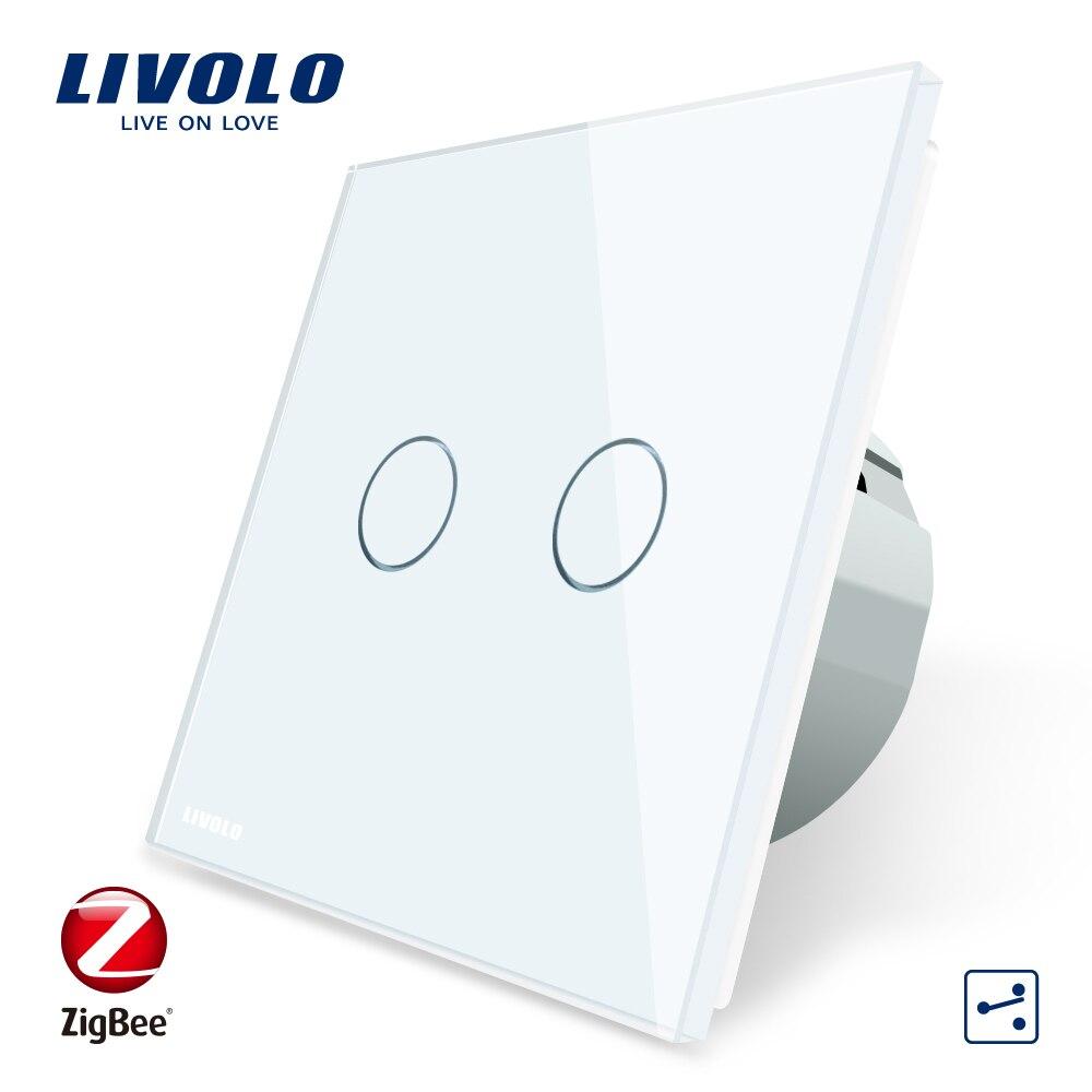 Livolo Wifi Sans Fil Intelligence Interrupteurs Muraux Télécommande Via APP ZigBee Interrupteur, Seulement travail avec Livolo passerelle