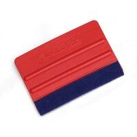 High quality Red car wrap scraper Avery Dennison brand squeegee 7*10cm blue bondo Squeegee