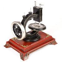 ZAKKA Resin Antique Imitation Sewing Machine Vintage Creative Cabochon Photo Props Home Decoration Crafts Gifts LF362