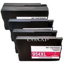Cartouche d'encre 4pk 954 rechargeable pour imprimante hp, pour appareil d'impression 954, OfficeJet Pro 7740, 8210, 8710, 8720, 8730