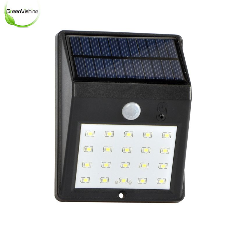 2PC Wireless Powered 20 LED 5W Solar Light Waterproof IP55 PIR Motion Sensor Outdoor Fence Garden Light Pathway Wall Solar Lamp youoklight 0 5w 3 led white light mini waterproof solar powered fence garden lamp black