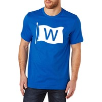 Loo Show Mens Chicago Cubs W Win Flag T Shirt Tee
