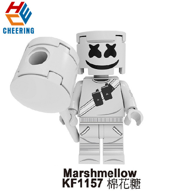 Single Sale Super Heroes Building Blocks Cartoon Pretty Marshmellow Action Figures Bricks Christmas Toys For Children KF1157