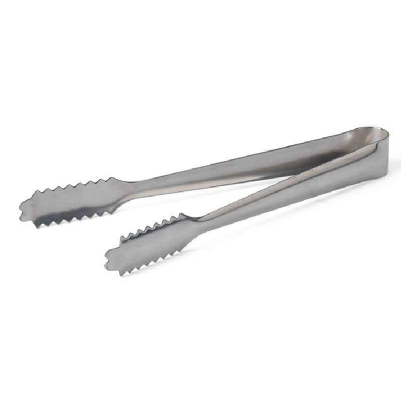 Pinzas para hielo barra de herramientas accesorios de cocina de acero inoxidable barbacoa Clip comida pan hielo abrazadera 1 unids/lote alta calidad