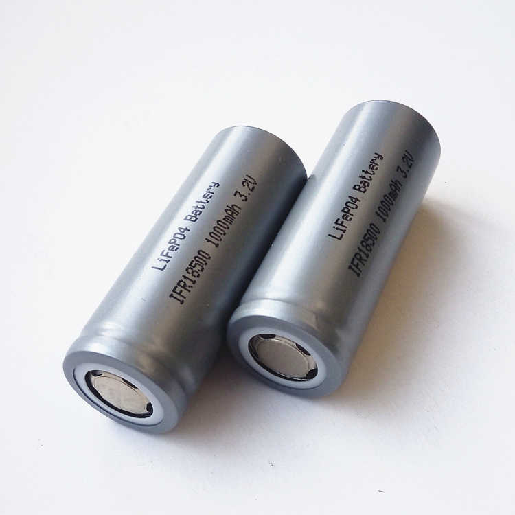 Rechargeable LiFePO IFR 18500 lithium iron phosphate 3.2V LFP 1000mAh Battery Cell with Free charger