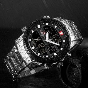 Image 5 - NAVIFORCE 男性腕時計スポーツクォーツデジタル男性の時計のボックスセットで販売男性軍事防水時計レロジオ Masculino