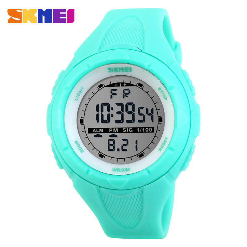SKMEI Fashion Women Watches 5Bar Waterproof LED Kids Watches Digital Wristwatches Military Sport Watch Boy Girl relogio feminino(China)