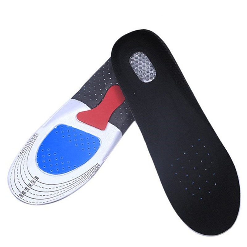 Image 3 - Silicone Gel Insoles Foot Care Orthopedic Insoles Fascitis Plantar Heel Sports Shoes Pads Running Insole For Men Hiking Camping-in Insoles from Sports & Entertainment