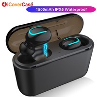 Bluetooth Earphone With Charging Box Wireless Headphone With Mic Earphones For Honor V20 10 Xiaomi 9 Redmi Note 7 Pro Sony XZ4|Bluetooth Earphones & Headphones| |  -