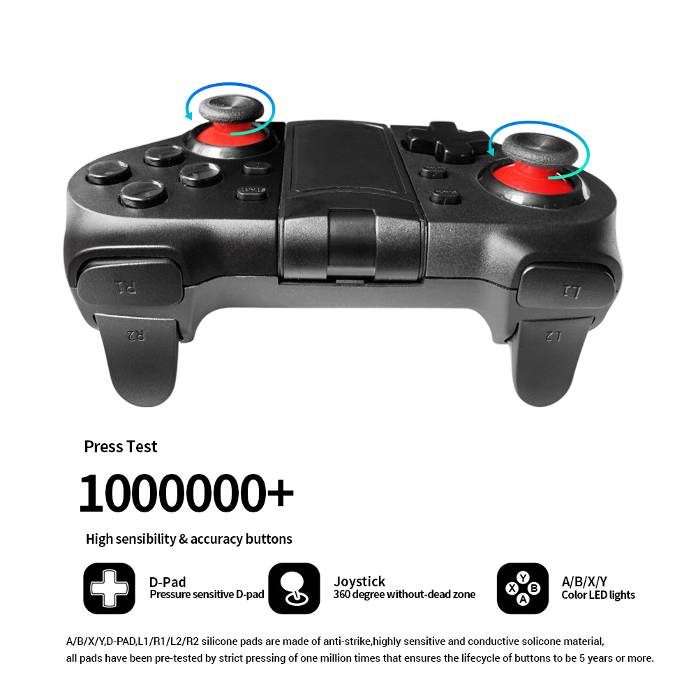 Image 3 - K ISHAKO Wireless Bluetooth Game Controller For Cell Phone Mobile Phone Joystick Controller for iPhone/ iPad/iOS/Android/Tablet-in Gamepads from Consumer Electronics