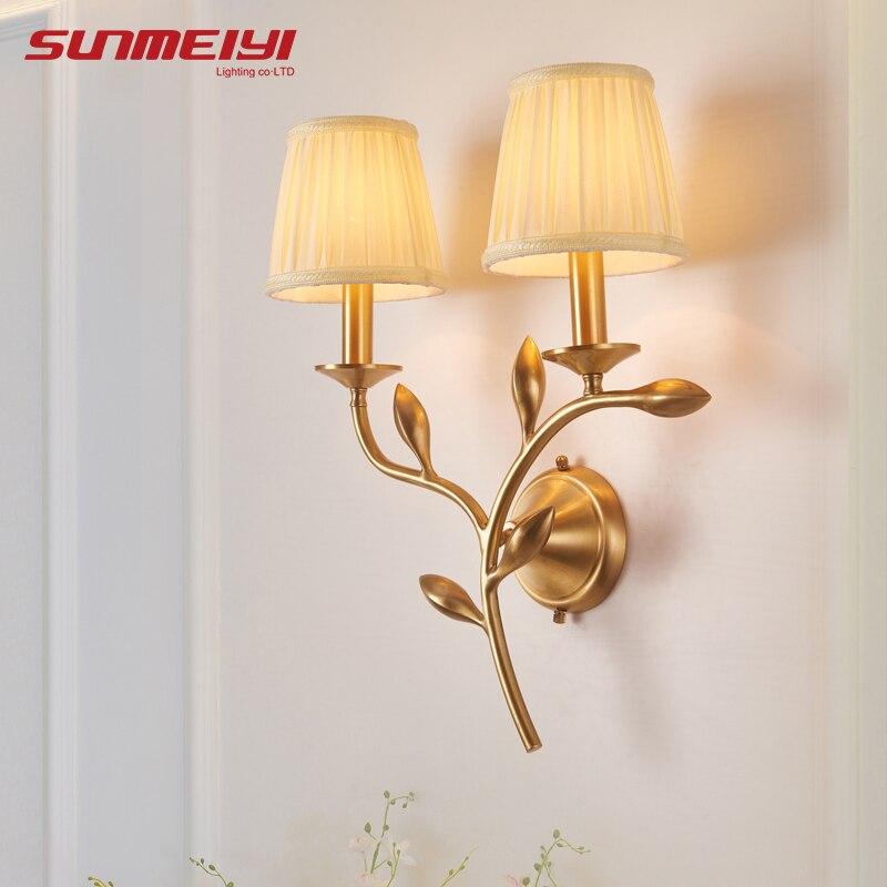 Modern LED Copper Wall Lamps For Bedroom Bedside Lamp Holtel Corridor Indoor Lighting applique murale luminaire For home