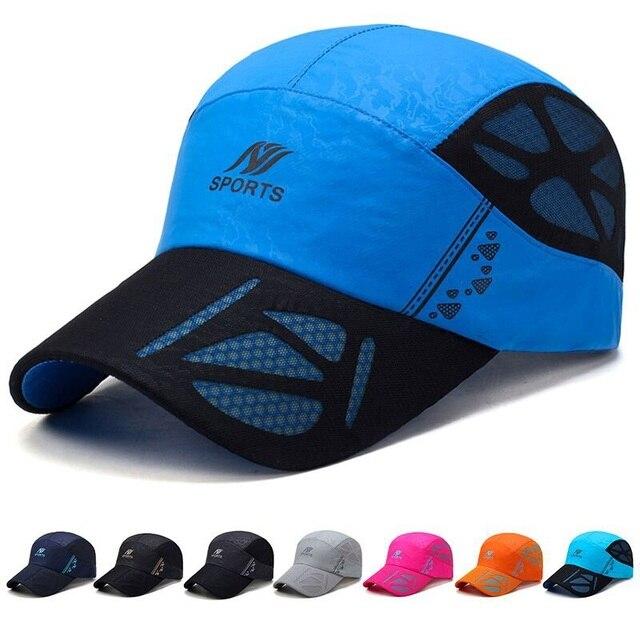 TUMBAK 2018 Unisex Sports Cap Men Women For Fishing Outdoors Adjustable Cap  Long Visor Summer Mesh Caps Sunhat E507 e96ee064e4ee