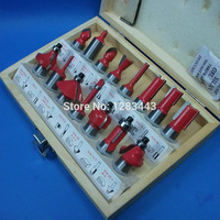 15PCS 1 2 12 7 Shank Tungsten Carbide Router Bit Set Wood Woodworking Cutter Trimming Knife