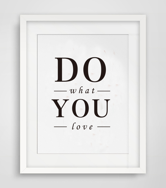 cotill do what you love canvas painting wall art picture home