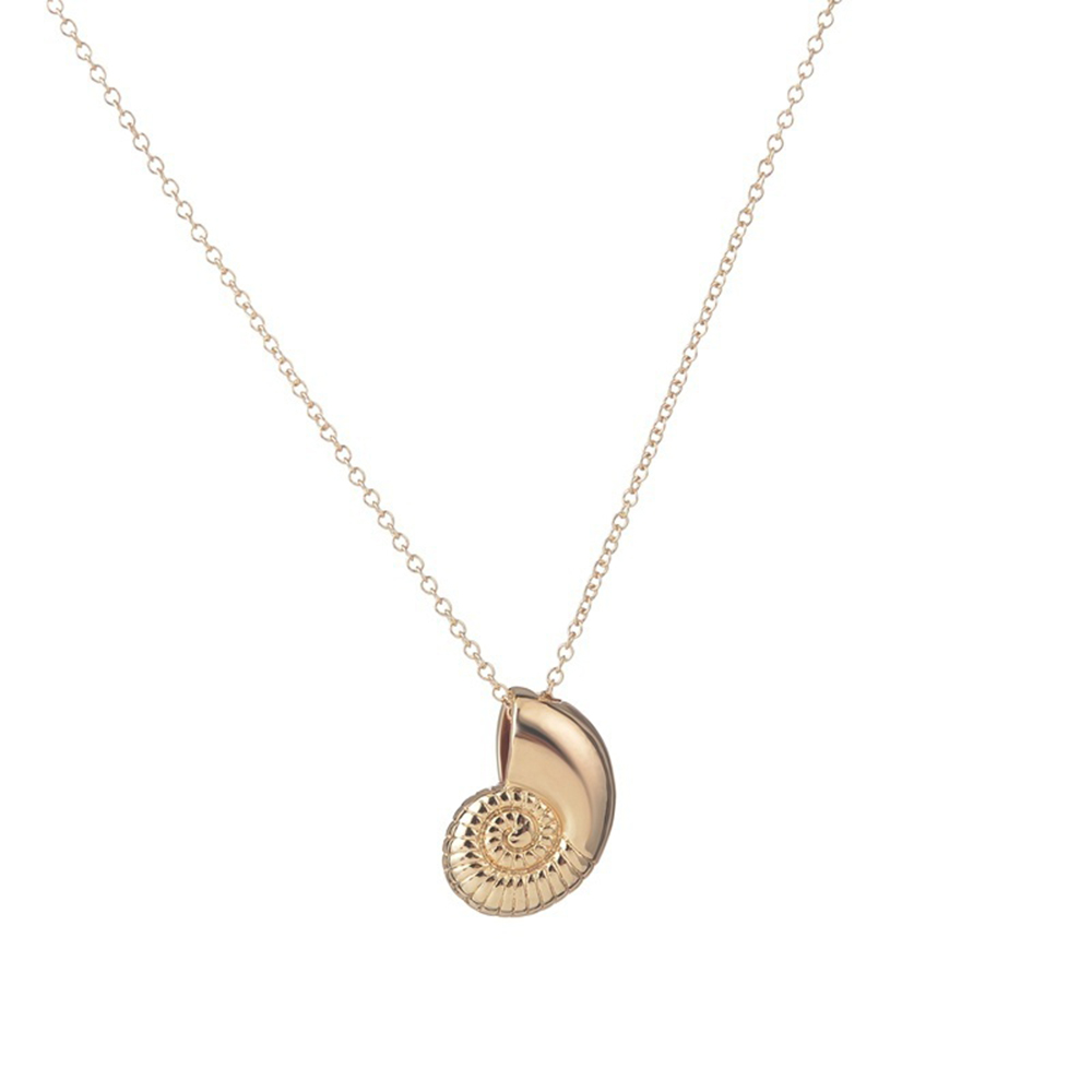 New Fashion Seashell Necklace Spiral Swirl Sea Snail Necklace Conch Shell Necklace Ariel Voice Ocean Beach Necklaces necklace