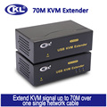 CKL USB KVM Extender with USB Hub Transmitting Keyboard Mouse Video Signal up to 70m (230 feet)  CKL-480AUP
