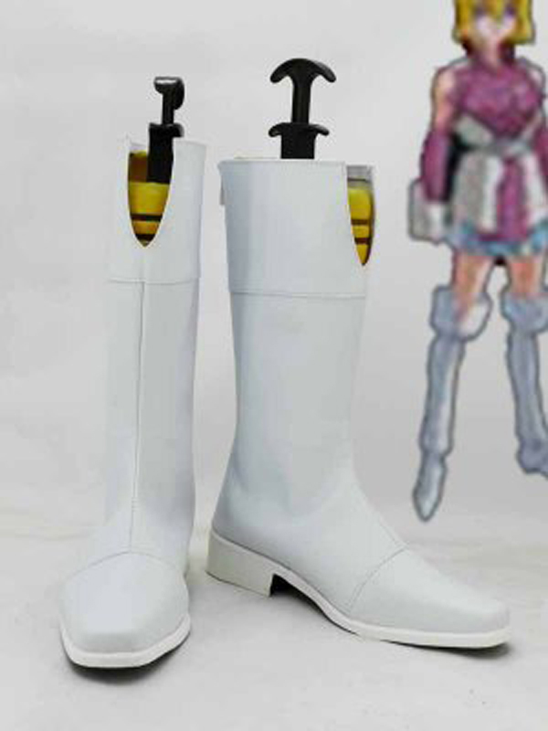 MOBILE SUIT GUNDAM Seed Stella Loussier White Cosplay Boots Shoes Anime Party Cosplay Boots for Adult Women