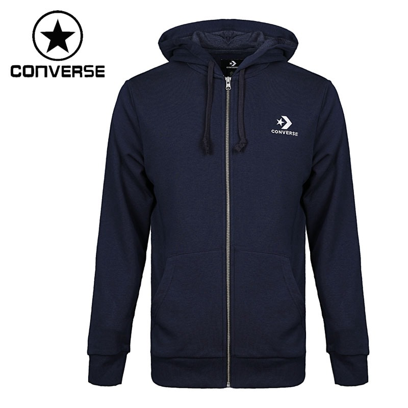 e190c7cf87f854 Original New Arrival 2018 Converse Star Chevron Emb FZ Hoodie Men s Jacket  Hooded Sportswear