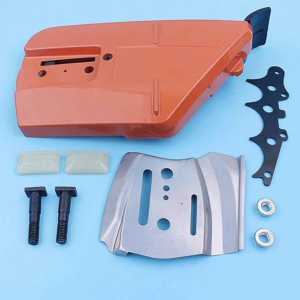 Chain Brake Sprocket Side Cover Kit For Husqvarna 385 390 385XP 390XP  Chainsaw Bar Plate Felling Dog Nut Bolt Stripe Spare Part