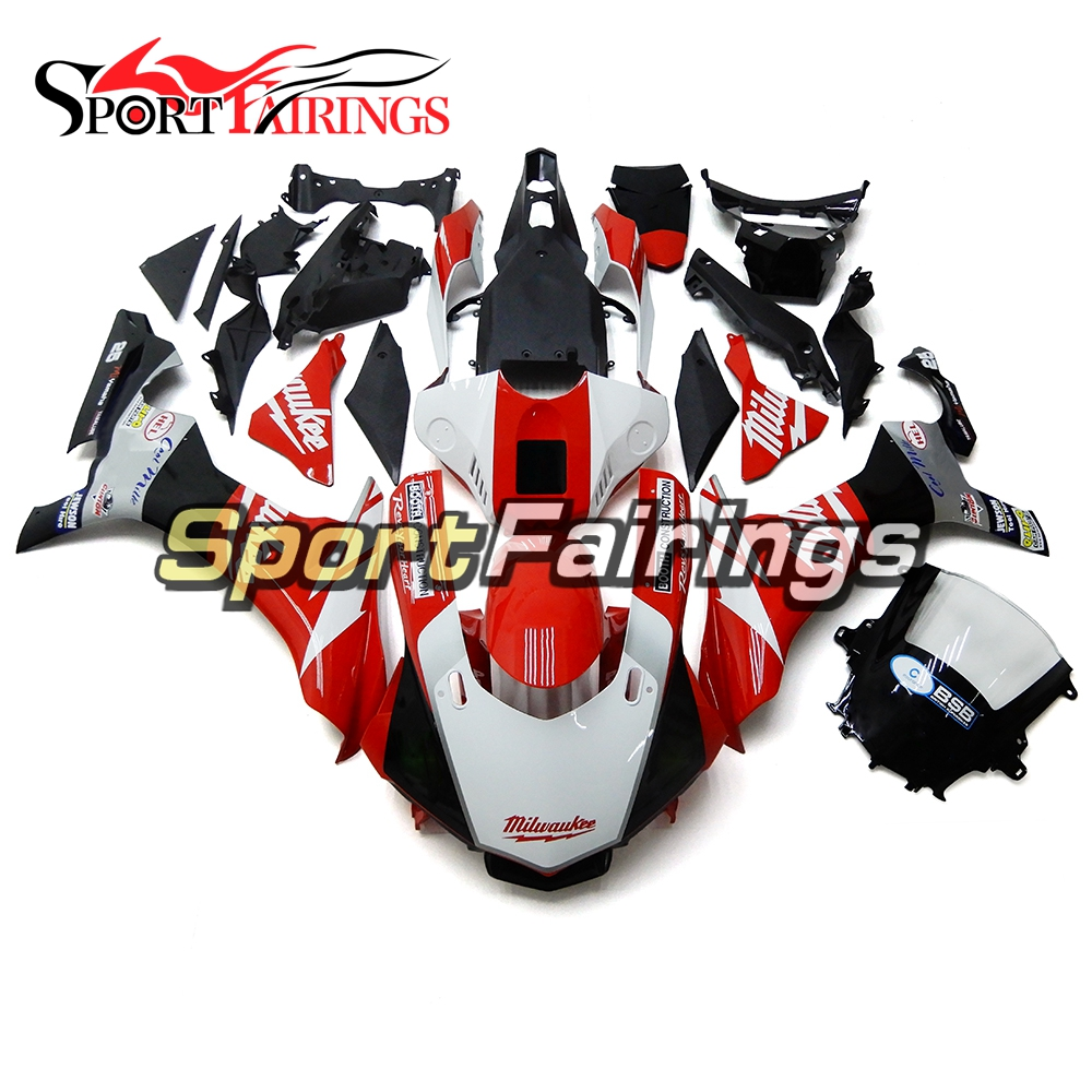 White Red Plastic Injection Motorcycle Fairings For Yamaha YZF R1 15 16 YZF-R1 2015 2016 Complete Fairing Kit Cowlings Bodywork hot sales yzf600 r6 08 14 set for yamaha r6 fairing kit 2008 2014 red and white bodywork fairings injection molding