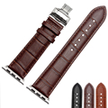Italian leather crocodile pattern classic Watchbands For Apple Iwatch Band 38mm 42mm apple wristwatch