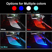 2018 Motorcycle Angel Wings LED Welcome Lights Motor Door Courtesy Projector Light Puddle 12V White /Red/Blue/ RGB fit all cars sunkia led pathway lighting welcome lamp angel wings light projector ghost shadow puddle for all cars and motorcycles