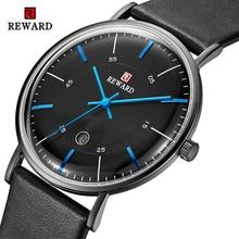 REWARD Watch Men Business Waterproof Clock Mens Analog Leather Quartz Watches Fashion Casual Sport Wristwatch Relogio