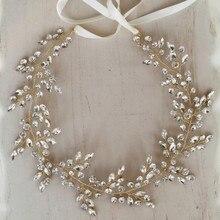 Jonnafe Rhinestone Tiara ชุดแต่งงานอุปกรณ์เสริมทองเจ้าสาว Headband ผู้หญิงเครื่องประดับ Headpiece