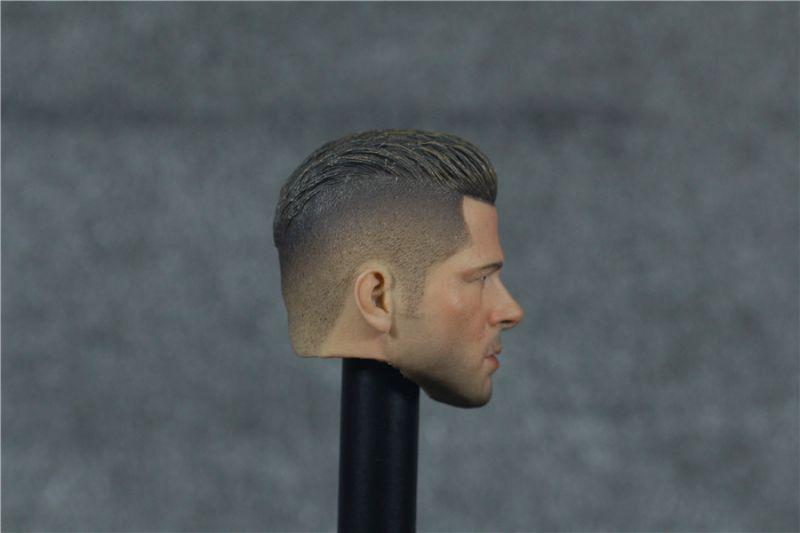ФОТО Custom 1/6 Scale Fury WarDaddy Brad Pitt Head Sculpt For Hot Toys Body
