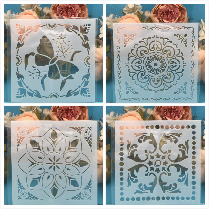 4Pcs/Lot 15cm Butterfly DIY Craft Layering Stencils Wall Painting Scrapbooking Stamping Embossing Album Paper Card Template