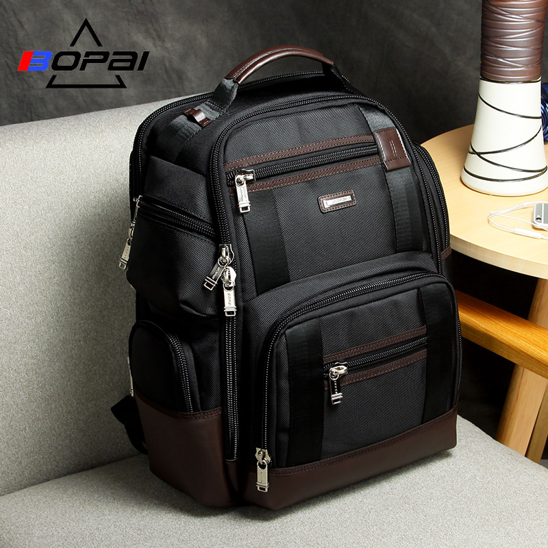 American Famous Brand Multi Pockets Men Backpack Large Capacity Weekend Travel Back Pack Business Men's Super Backpack Male Bag-in Backpacks from Luggage & Bags
