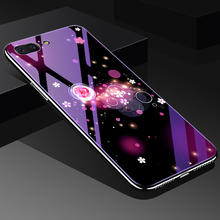Tempered Glass Phone Case for iPhone 6 6s 7 8 Plus X Plating Blue Light  Luxury For Protecive Cover