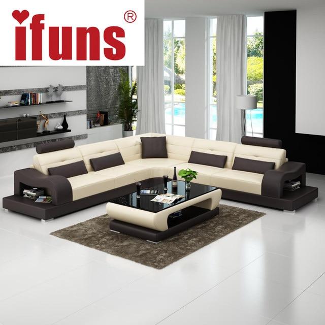 IFUNS Grey Leather Chesterfield Sofa Luxury Sofa Set Living Room Furniture  L Shape Corner Chaise Floor Sectional Sofa (fr)