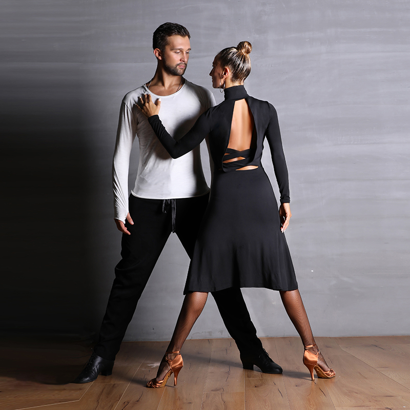 Slim Latin Dance Dress For Women Sexy Backless Samba Rumba Salsa Performance Dresses Ballroom Dancing Practice