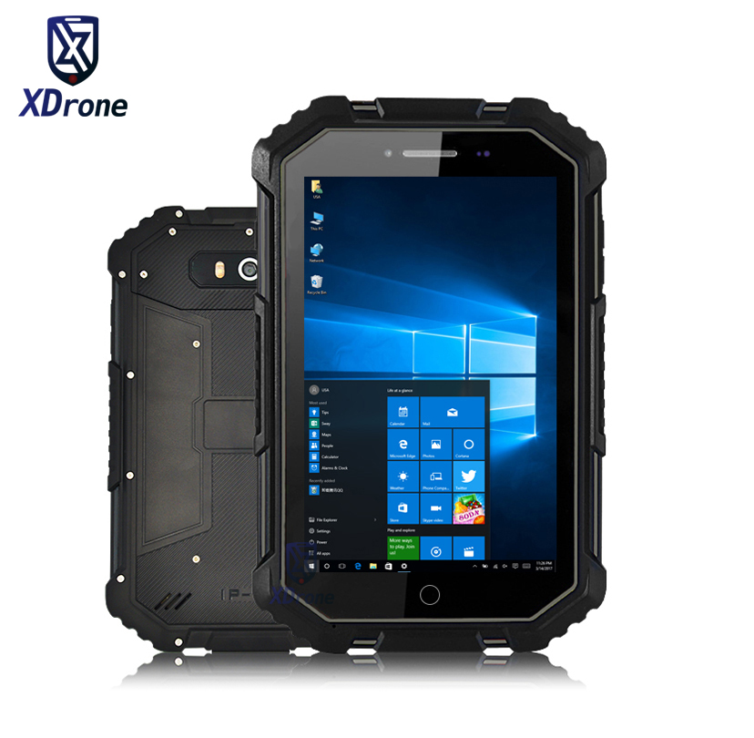 2018 Cina X16 Robusto Finestre 10 Home Tablet PC Impermeabile Auto Del Computer Intel Z8350 7
