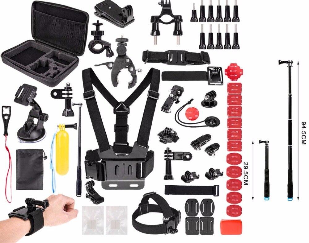 Pour Gopro accessoires set pour Go Pro HERO6 5 4 3 & pour SJ4000/SJ5000/SJ6000/SJCAM Xiao mi Yi 4 K/M20 4 K/AKASO EK7000