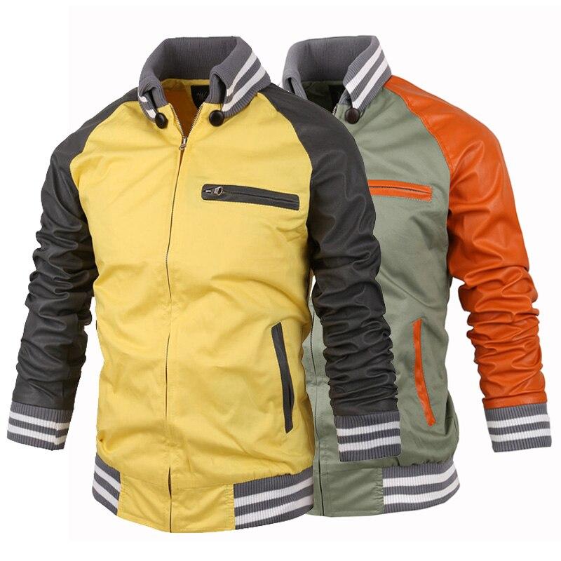 autumn/winter men's jackets Slim fit men fashion stitching Collar ...