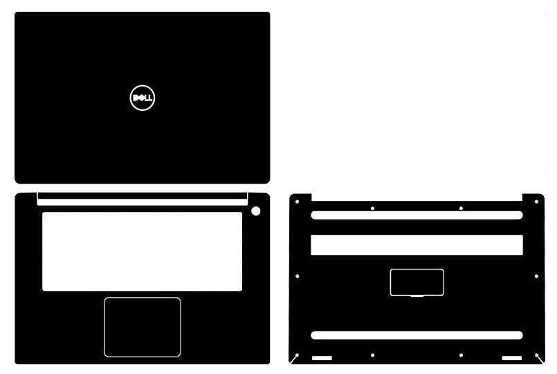 Laptop Carbon Fiber Vinyl Skin Sticker Cover For NEW Dell XPS 15 9570 XPS9570 15.6