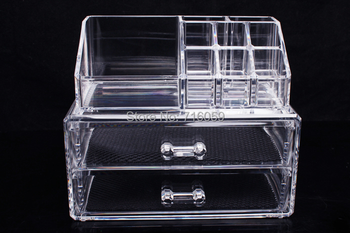 Transparent Crystal Locker Makeup Storage Box Cosmetic Organizer