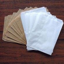 """200 adet Kraft ve beyaz boş parti Favor çantalar Bitty çanta çantası Kraft kağıt hediye çantası 5 """"x 7"""" (13x18cm)"""