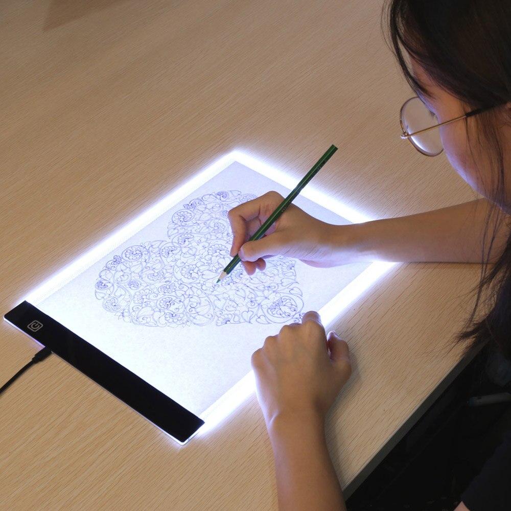 Оригинальные цифровые планшеты Aveiro A4 LED Графический художник тонкая художественная трафаретная доска для рисования световая коробка Трасс...