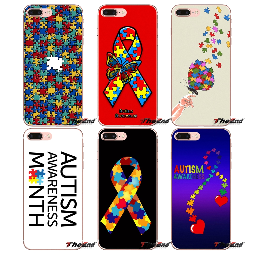 Iretmis S3 S4 S5 Silicon Rubber Phone Case Cover For Samsung Galaxy S6 S7 S8 S9 Edge Plus Note 3 4 5 8 9 Autism Awareness Puzzle Fitted Cases Phone Bags & Cases