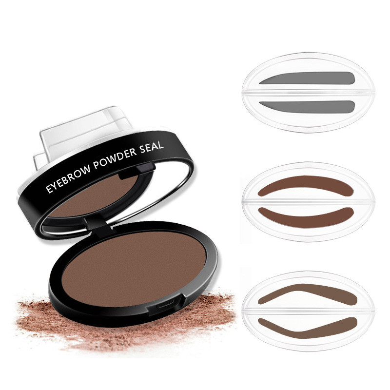 Lazy Quick Eyebrow Stamp Seal Tint Waterproof Long Lasting Eyes Brow Shadows Set Natural Shape Punch For Eyebrows Powder Palette Beauty Essentials