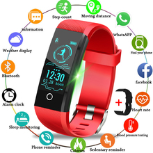 LIGE Women Sport Bracelet Fitness Tracker Blood Pressure Heart Rate Monitor Men LED Touch Screen Smart Watch For IOS Android+Box