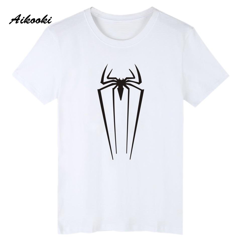 Aikooki Superman Logo Black T-Shirt Men Famous Brand Super Young People Man Short Sleeve ...