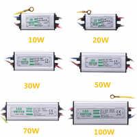 Jiguoor 10W 20W 30W 50W 100W Waterproof High Power Supply LED Driver AC85-265V Input Electronic LED Driver Transformer